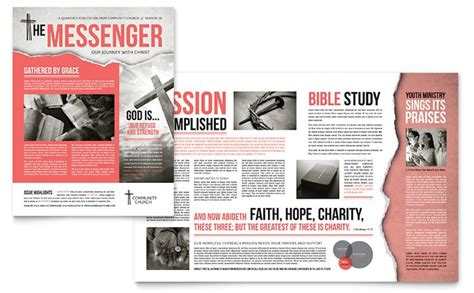 creative church bulletins christian newsletters