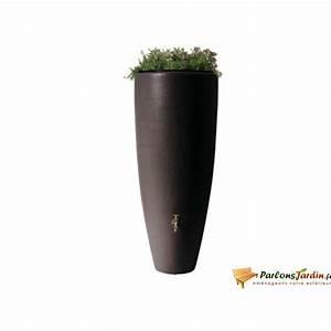 Bac Récupérateur D Eau De Pluie : r cup rateur d 39 eau de pluie 2 en 1 moka 300l achat ~ Premium-room.com Idées de Décoration