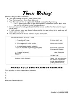 13 Best Images Of Thesis Statement Worksheet Middle School  Thesis Statement Worksheet, Essay