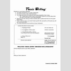 13 Best Images Of Thesis Statement Worksheet Middle School