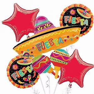 Eby De : spanish fiesta balloons bouquet mexican party decoration supplies cinco de mayo ebay ~ Orissabook.com Haus und Dekorationen