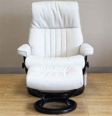 Recliner For by Stressless Crown Cori Vanilla White Leather Recliner Chair