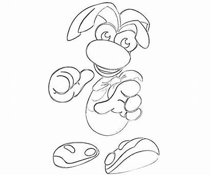 Coloring Pages Rayman Xbox Legends Controller Printable