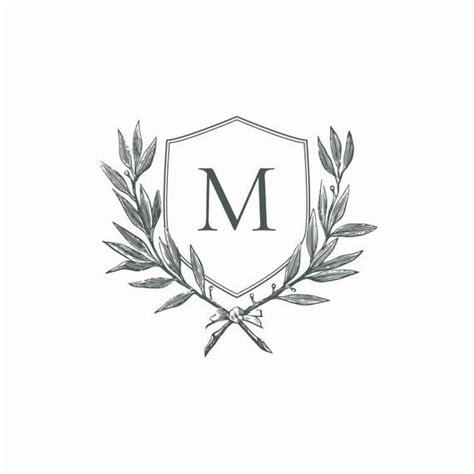 monogram wedding crest initial wreath instant digital  single letter  diy wedding