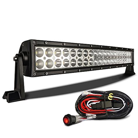 mictuning curved 22 120w led light bar road spot