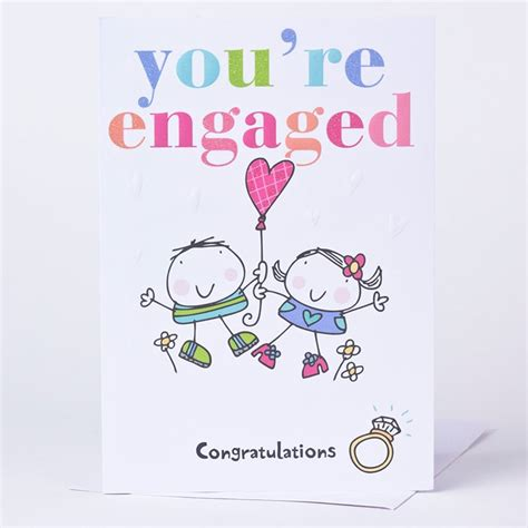 congratulations engagement card template engagement card