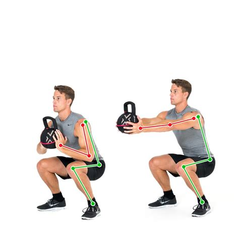 kettlebell squat push legs exercise shoulder body balance ex gymbox