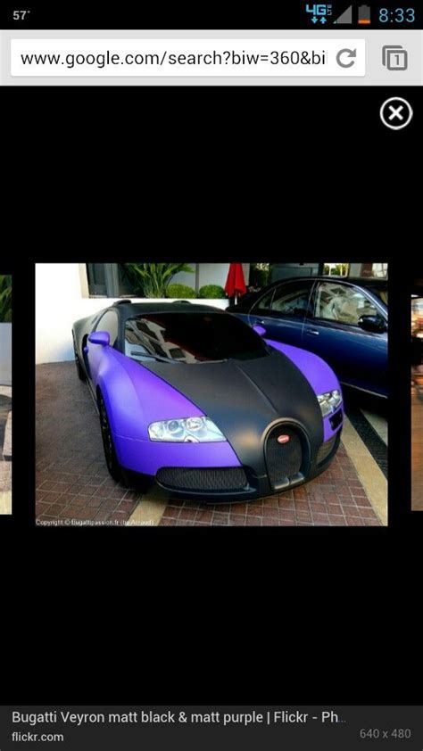 Bugatti divo to become the most expensive production car ever. Bugatti Veyron Matt Purple and Black. What a beauty