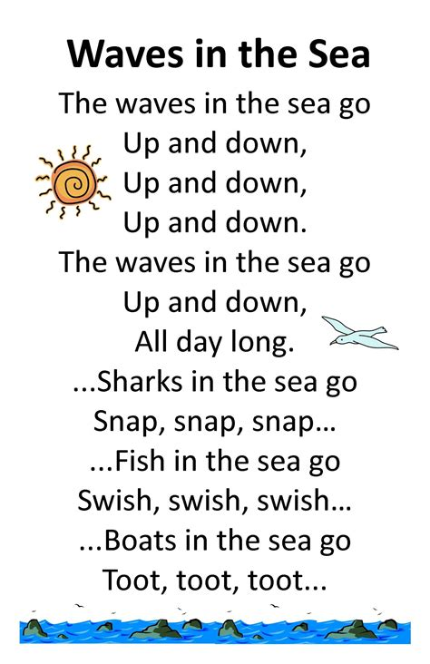 Itty Bitty Summer Tots & Tykes Rhyme Wave In The Sea  Ideas  Pinterest  Songs For Toddlers