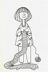 Stamp Knitting Coloring sketch template