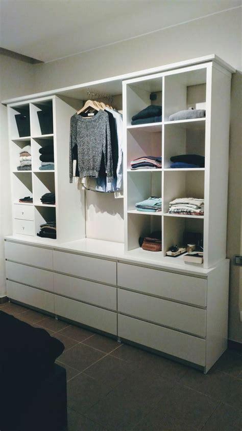 Ikea Malm Kleiderschrank by Open Cupboard With Kallax And Malm Cupboard Kallax