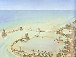 the harbor of Civitavecchia (Centumcellae) in Italy at the ...
