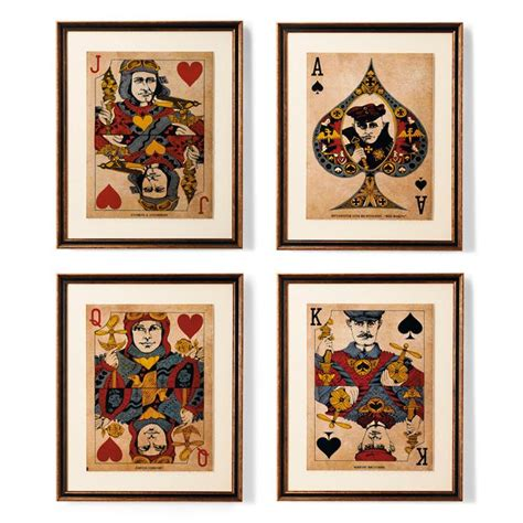 Check out our post card decoration selection for the very best in unique or custom, handmade pieces from our postcards shops. Famous Aviators Playing Card Art   Frontgate