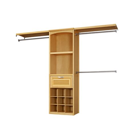 shop allen roth 8 ft wood closet kit at lowes