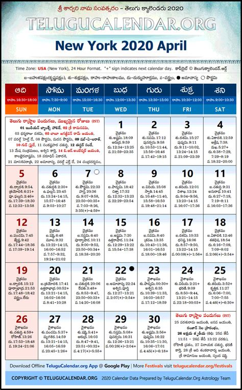 york telugu calendars  april festivals