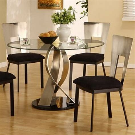 small  glass kitchen table set home design