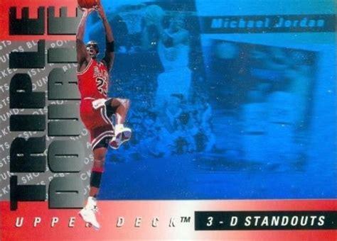 upper deck triple double michael jordan  basketball