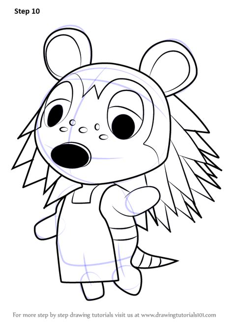 learn   draw sable  animal crossing animal crossing step  step drawing tutorials