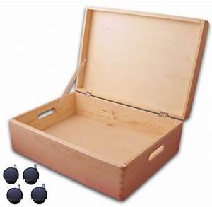 Aufbewahrungsbox Mit Deckel Holz : aufbewahrungsbox holzkiste mit deckel und griffl chern kiefer gr 4 mit rollen ~ Bigdaddyawards.com Haus und Dekorationen