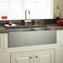 33 quot optimum 60 40 offset double bowl stainless steel