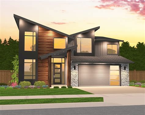 Exemplar House Plan Two Story Contemporary Home Design