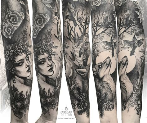 Mother Nature Sleeve Tattoo Tattoos