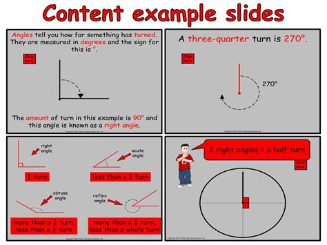 year 3 angles animated powerpoint presentation and worksheets by online teaching resources