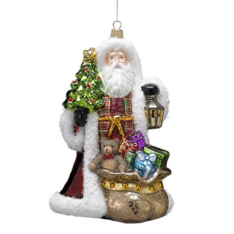 kurt adler 7 68 quot polonaise father christmas with lantern
