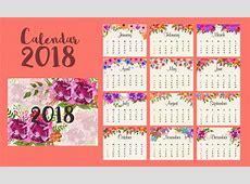 Juego completo de 12 meses, calendario 2018 Descargar