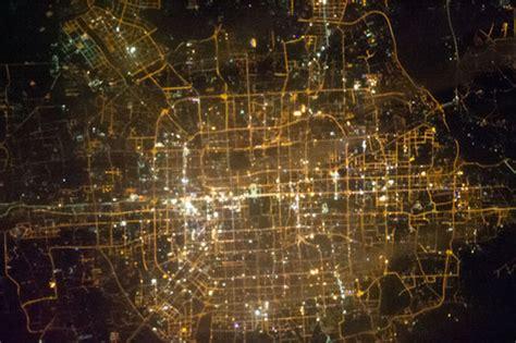 cities  night  captured  astronauts aboard
