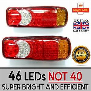 Led Rear Tail Lights Truck Fits Scania Volvo Daf Man Iveco