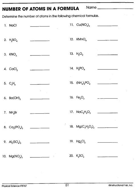 Chemical Formula Writing Worksheet Worksheets For All  Download And Share Worksheets  Free On