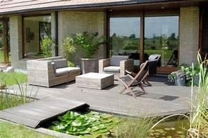 Pavé De Bois : terrasse en pave uni vs terrasse en bois ~ Premium-room.com Idées de Décoration
