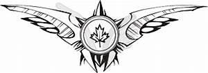 Maple leaf tribal tattoo - vector image