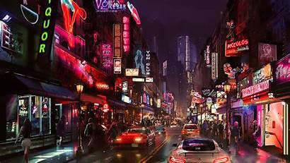Cyberpunk Futuristic Cyber Night Concept Digital Science