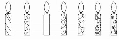 Candle Coloring Birthday Template Netart Candles Colouring