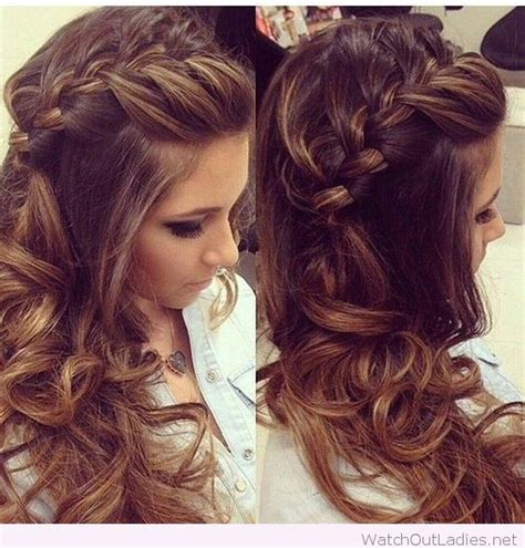 Hairstyles With Braids And Curls by Side Braided Hair With Curls Hair Braid