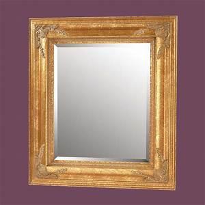 "Antique Gold Gilded Frame Mirror 34"" Square"