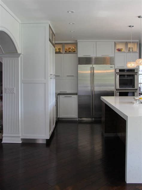 modern kitchen floors contemporary kitchen with hardwood floors open to dining 4216