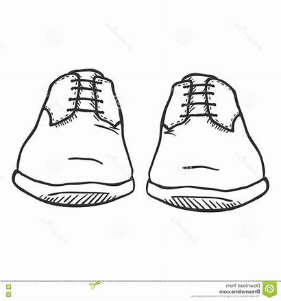 Shoes Drawing Pair Mens Draw Paintingvalley Drawings