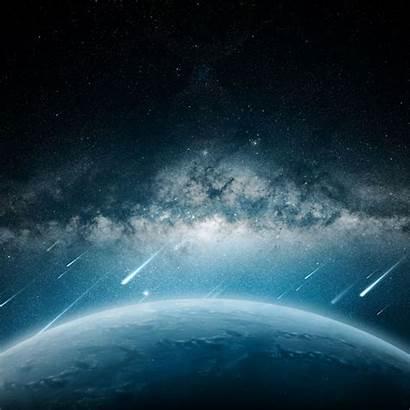 Ipad Space Planet Rain Meteorite Wallpapers Iphone