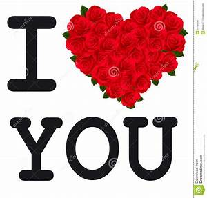 Heart With Roses I Love You. Vector. Royalty Free Stock ...