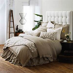 Lili, Alessandra, Jon, L, Bedding, Flax, Linen, With, Tailored