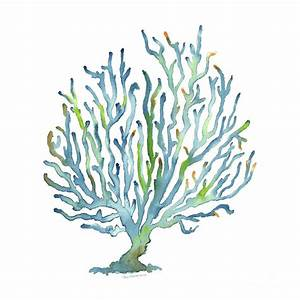 Blue Coral Painting by Amy Kirkpatrick