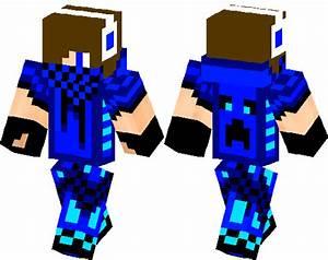 The Blue Creeper Boy | Minecraft Skin | Minecraft Hub