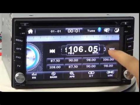 2 din universal car dvd player with 62quot touch screen car