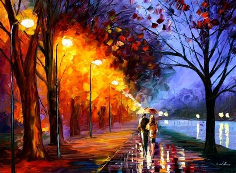 AUTUMN'S END - Original Oil Painting On Canvas By Leonid ...