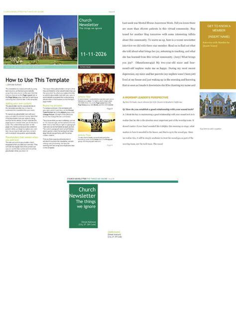 church newsletter templates editable  microsoft word