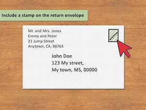 3 ways to address an envelope to a family wikihow With outside address letter