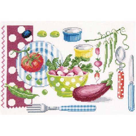 broderie cuisine dmc broderie point compté la cuisine vitaminée